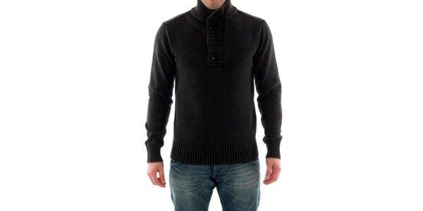 Pánsky tmavo šedý sveter Catbalou