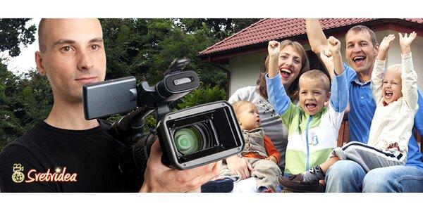 Profesionálny videozáznam akejkoľvek rodinnej alebo firemnej akcie