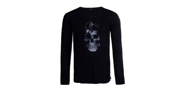 Pánsky čierny sveter Ron Abraham s Davidem
