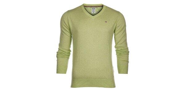 Pánsky svetlo limetkový sveter Tommy Hilfiger