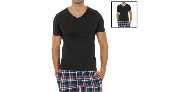 Sada dvoch pánskych čiernych tričiek Tommy Hilfiger