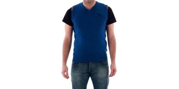 Pánska sýto modrá vesta Hammersmith