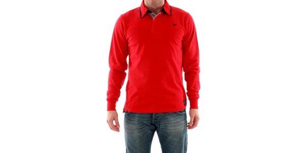 Pánske tričko s límčekom červené Hammersmith