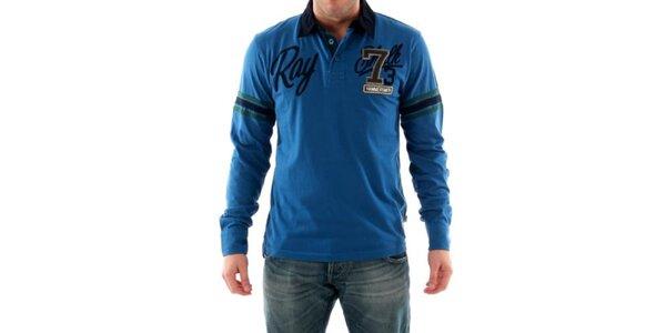 Pánske modré polo tričko s nášivkami Hammersmith