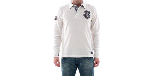 Pánske biele tričko s nášivkou na hrudi Hammersmith