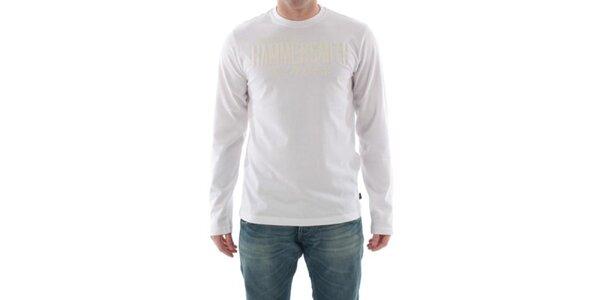 Pánske biele tričko s nápisom na hrudi Hammersmith