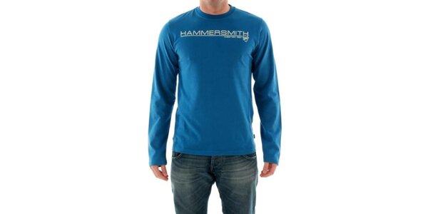 Pánske modré tričko s nápisom na hrudi Hammersmith
