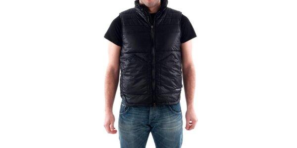 Pánska čierna prešívaná vesta Hammersmith