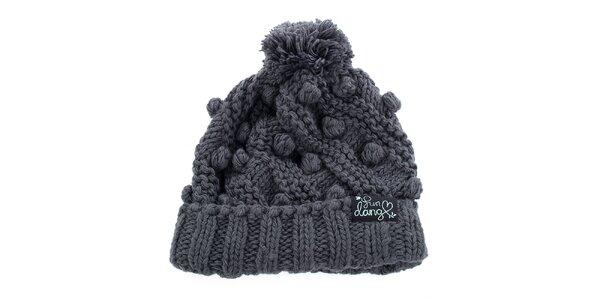 Dámska šedá pletená čiapka Fundango