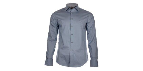 Pánska oceľová šedá košeľa Calvin Klein