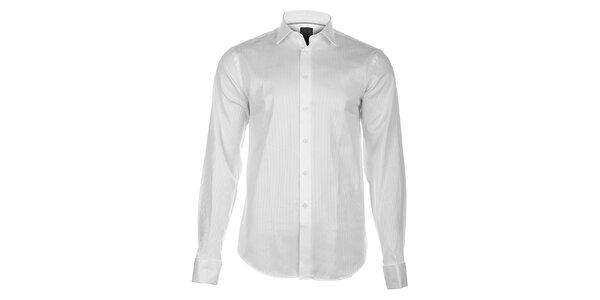 Pánska biela košeľa Calvin Klein s jemným prúžkom