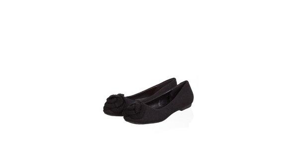Dámske čierne plstené baleríny Ada Gatti