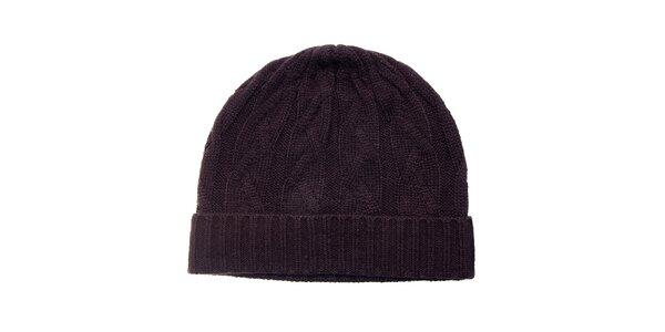 Dámska tmavo hnedá čapica Fraas
