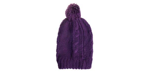 Dámska tmavo fialová čapica Fraas