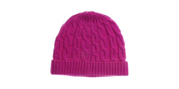Dámska sýto ružová pletená čapica Fraas