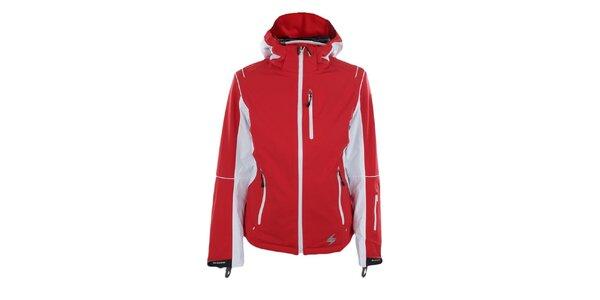Dámska červená funkčná bunda s bielymi detailmi Blizzard