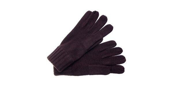 Dámske tmavo hnedé rukavice Fraas