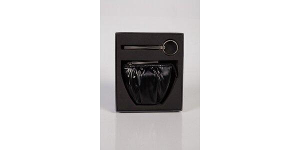 Dámská čierna kožená peňaženka Calvin Klein