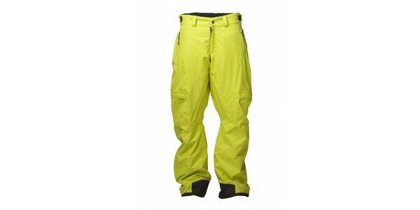 Pánske citrónovo žlté snowboardové nohavice Fundango