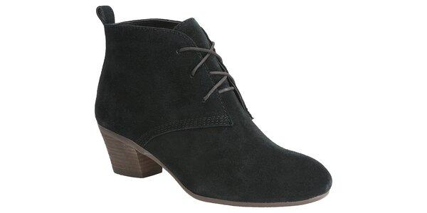 Dámske čierne semišové topánky Clarks
