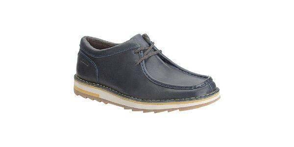Pánske tmavo modré topánky s farebnou podrážkou Clarks