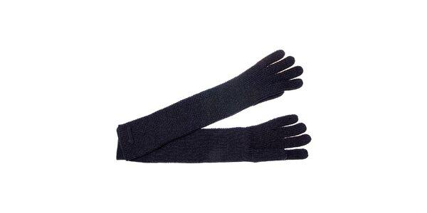 Dámske tmavo šedé dlhé rukavice Pietro Filipi