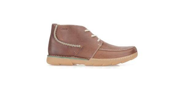 a49824e40d45 Pánske šedé kožené členkové topánky Clarks