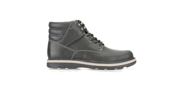 Pánske čierne kožené topánky Clarks