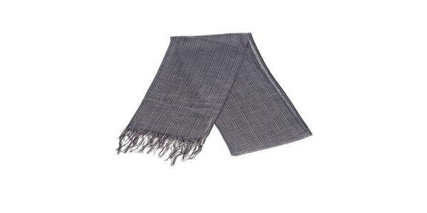 Luxusný tmavo šedý šál Castellet Barcelona