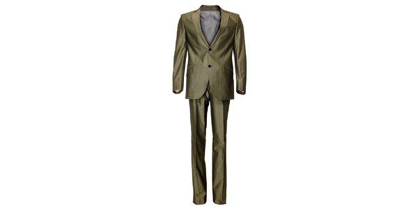 Pánsky béžovo-hnedý oblek Roberto Verino