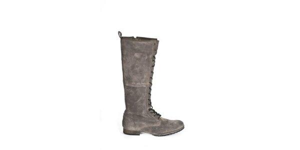 Dámske šedé topánky so šnurovaním Goldmud