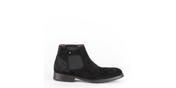 Pánske čierne členkové topánky Goldmud