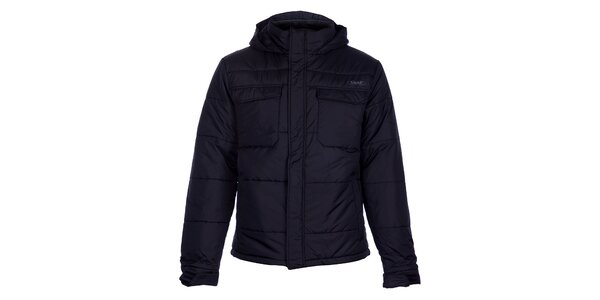Pánska tmavo hnedá prešívaná zimná bunda