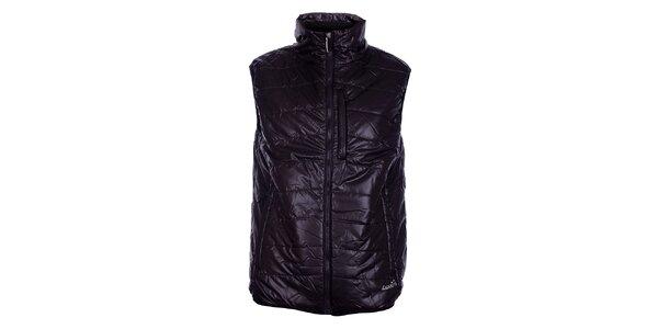 Pánska tmavo hnedá prešívaná vesta Loap
