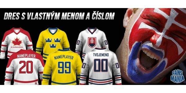 Hokejový dres s vlastným menom a číslom