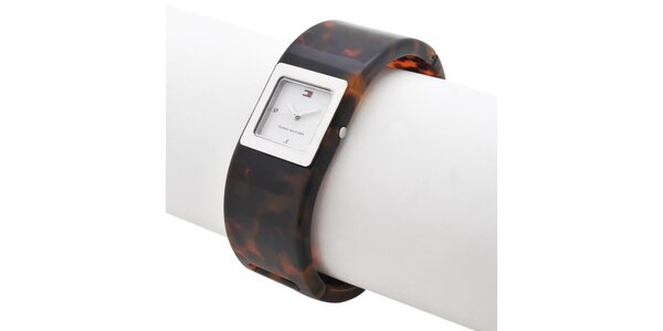 Dámske hodinky Tommy Hilfiger s korytnačkovým remienkom