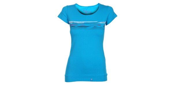 Dámske azúrovo modré tričko Loap