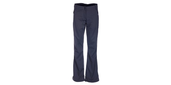 Dámske tmavo šedé softshellové nohavice Loap