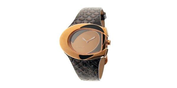 Dámske hodinky Cerruti 1881 s tmavo hnedým koženým remienkom