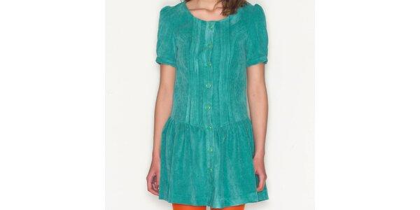 Dámske zelené šaty s gombíkmi Pepa Loves