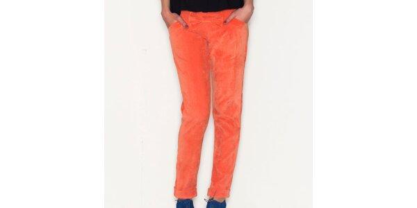 Dámske oranžové nohavice Pepa Loves