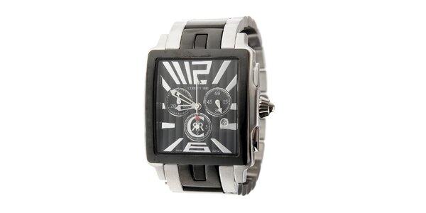 Pánske čierno-strieborné oceľové hodinky Cerruti 1881