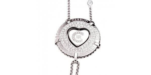 Dámsky oceľový náhrdelník Cerruti 1881 s medajlónikom