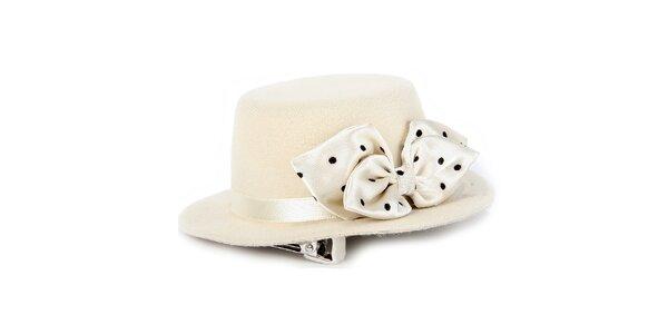 Dámsky krémový klobúk s mašľou Pepa Loves