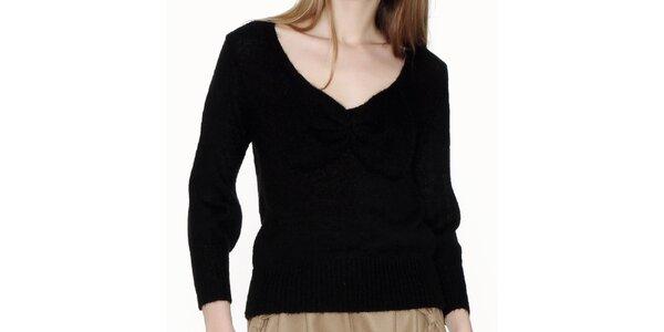 Dámsky čierny véčkový sveter Pepa Loves