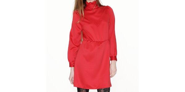 Dámske červené šaty so stojáčikom Pepa Loves