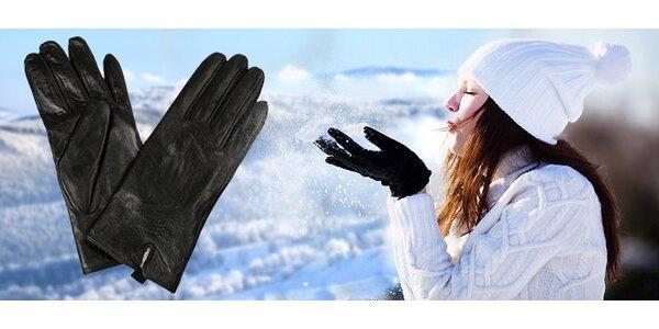 Dámske elegantné kožené rukavice