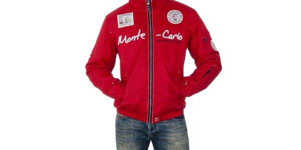 Pánska červená bunda s nápisom Geographical Norway