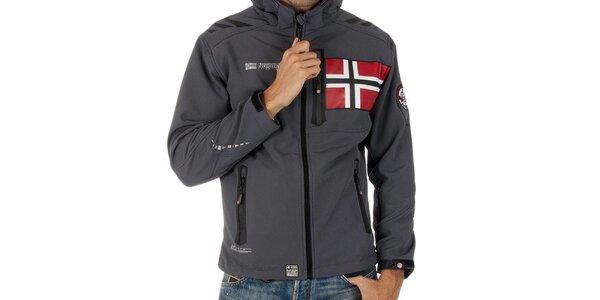 Pánska softshellová šedá bunda Geographical Norway