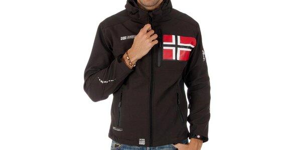 Pánska softshellová hnedá bunda Geographical Norway
